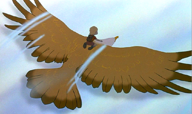 Cody on Marahute Disney movie The Rescuers Down Under 1990 animatedfilmreviews.filminspector.com