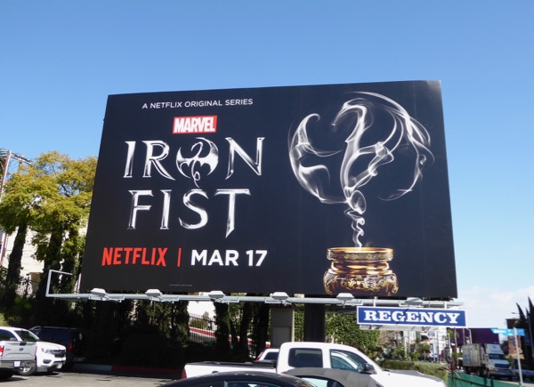 Iron Fist series launch billboard