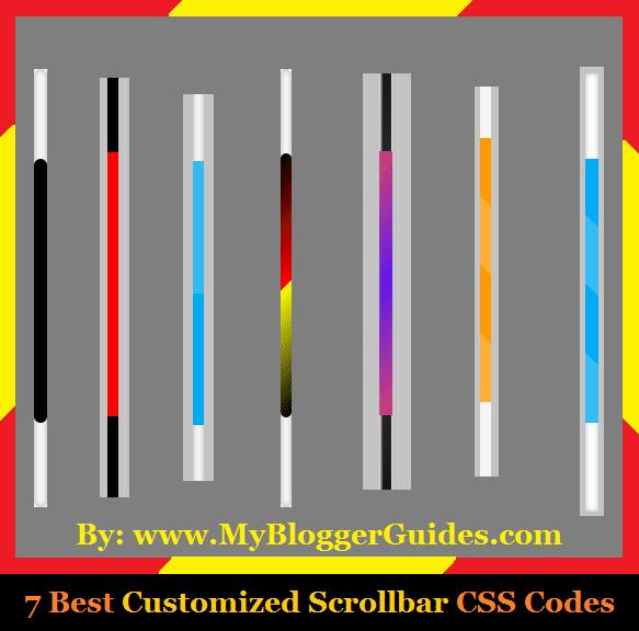 Custom CSS Scrollbars, Customize Blogger Scrollbar