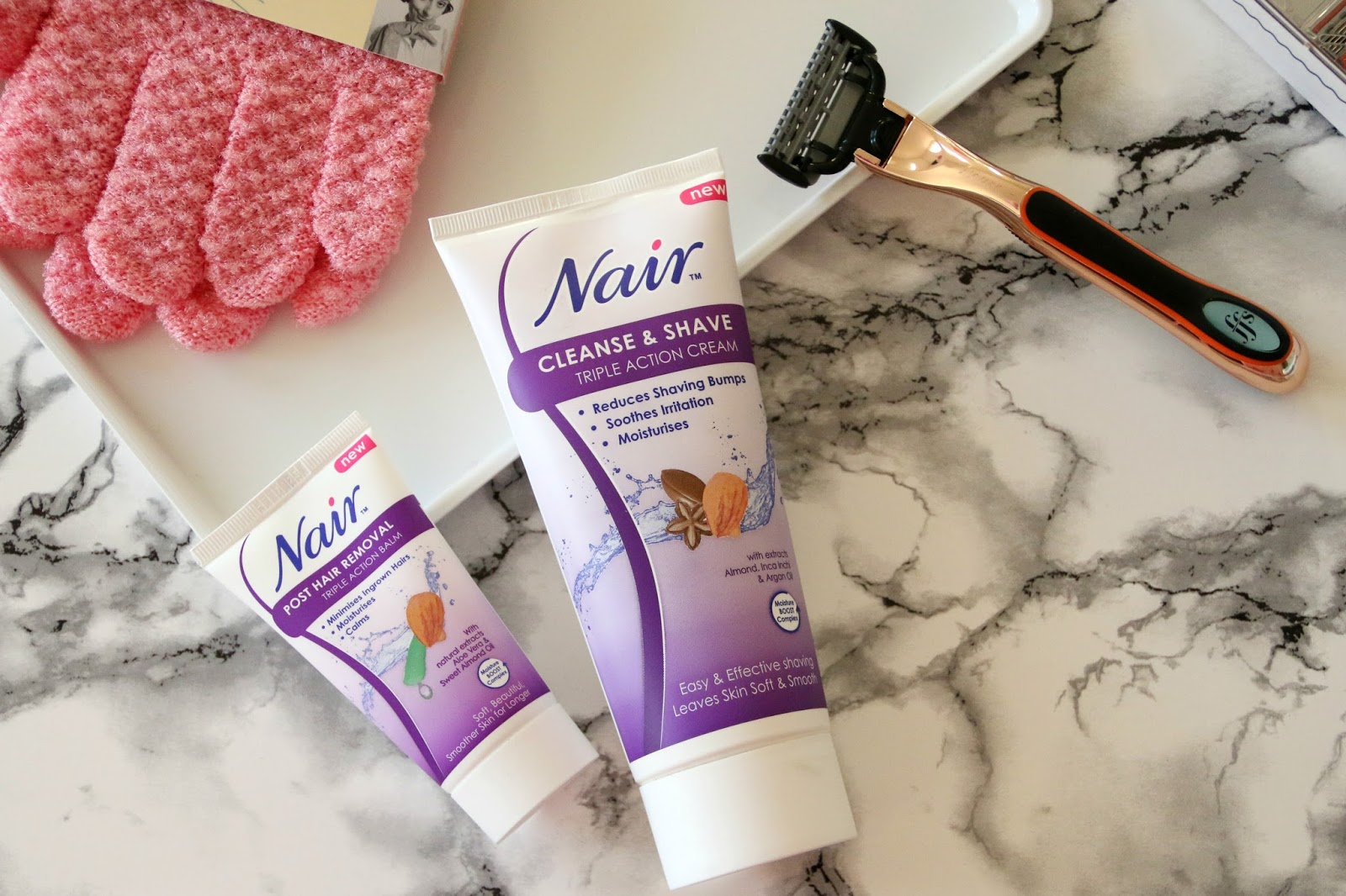 Nair Hair Removal Cream and Post Hair Removal Balm