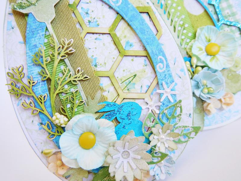Ręcznie robiona kartka Wielkanocna