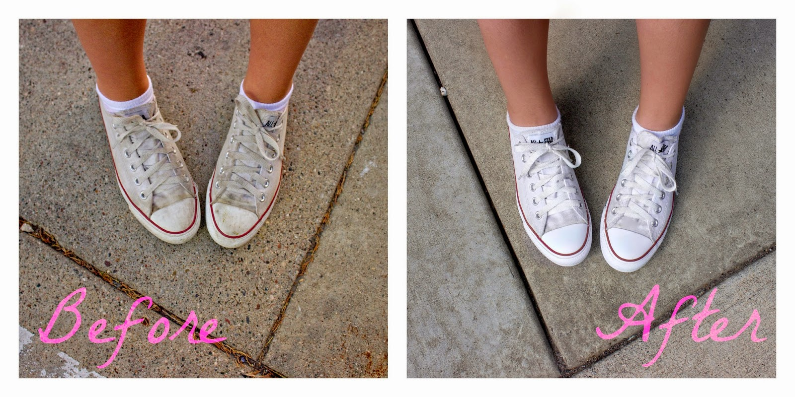 HOW TO CLEAN WHITE CONVERSE SHOES • All That Shimmers Blog