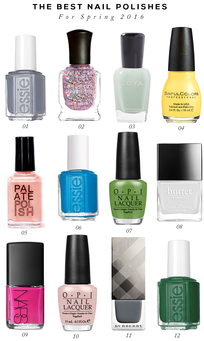 The Best Nail Polishes for Spring and Summer 2016 // Bubby and Bean