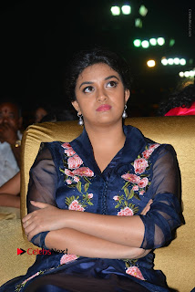 Actress Keerthi Suresh Stills in Blue Long Dress at Nenu Local Audio Launch  0035.JPG