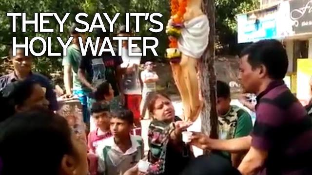 Patung Yesus di India Keluarkan 'Air Ajaib', Warga Yakin Bisa Sembuhkan Penyakit