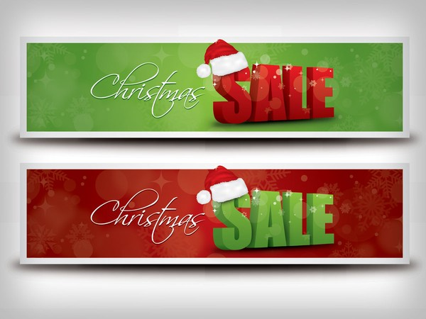 Christmas Sale Banner Vector Graphic