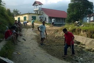 Road repaired by sittong siloam church