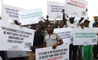 Many Nigerian Protest Against Buhari
