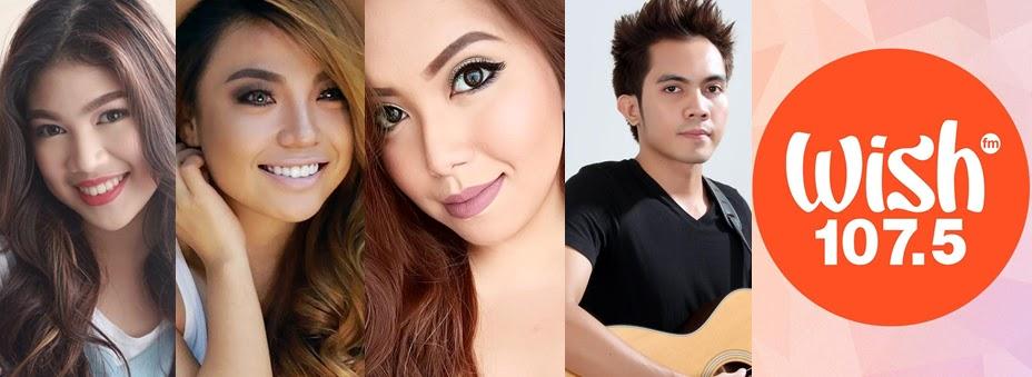 Janina Vela, Michelle Dy, Say Tioco, Ralph Jay and Wish 107.5 FM logo