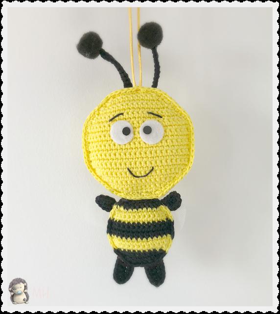 Bebé abeja amigurumi