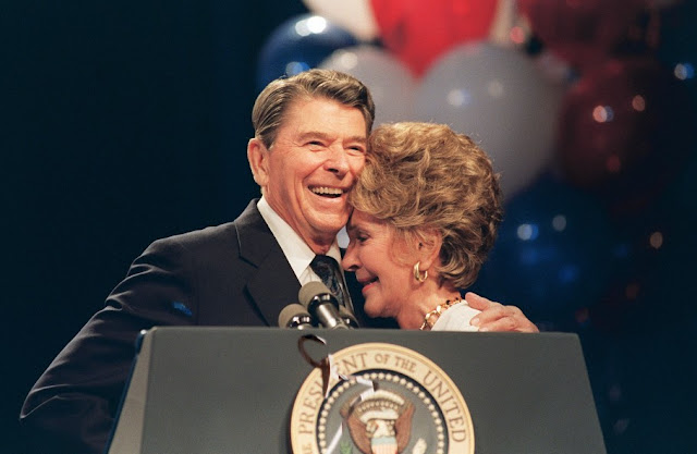 Ronald and Nancy Reagan in 1988