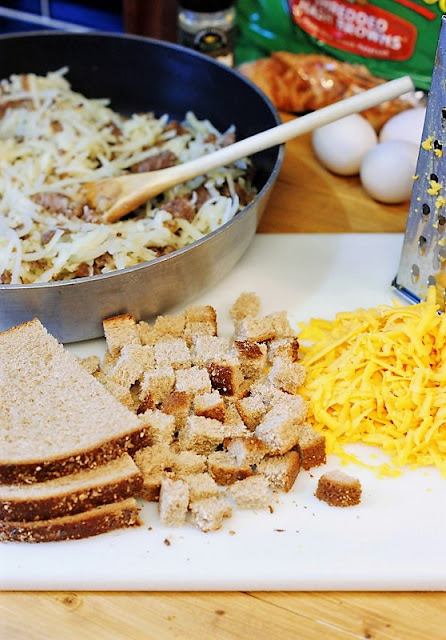 Overnight Sausage, Egg & Hash Brown Breakfast Casserole Ingredients Image