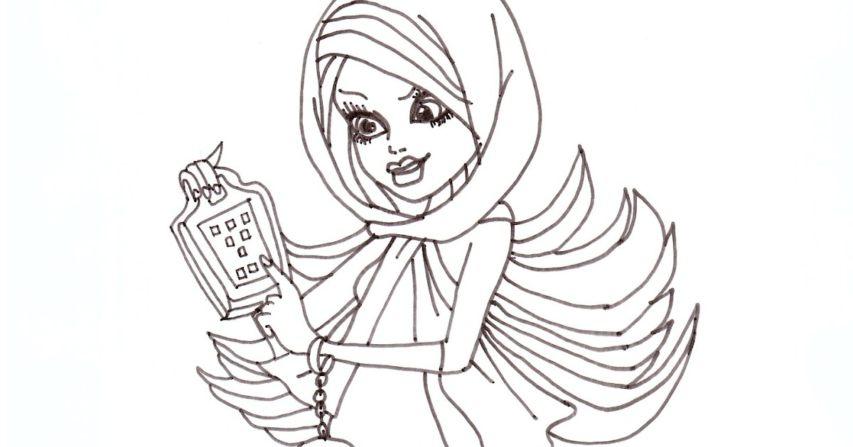 Free Printable Monster High Coloring Pages: Spectra Free