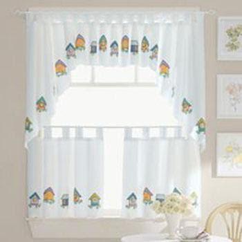 Decoraciones y hogar modernas cortinas para la cocina for Decoracion de cortinas de cocina