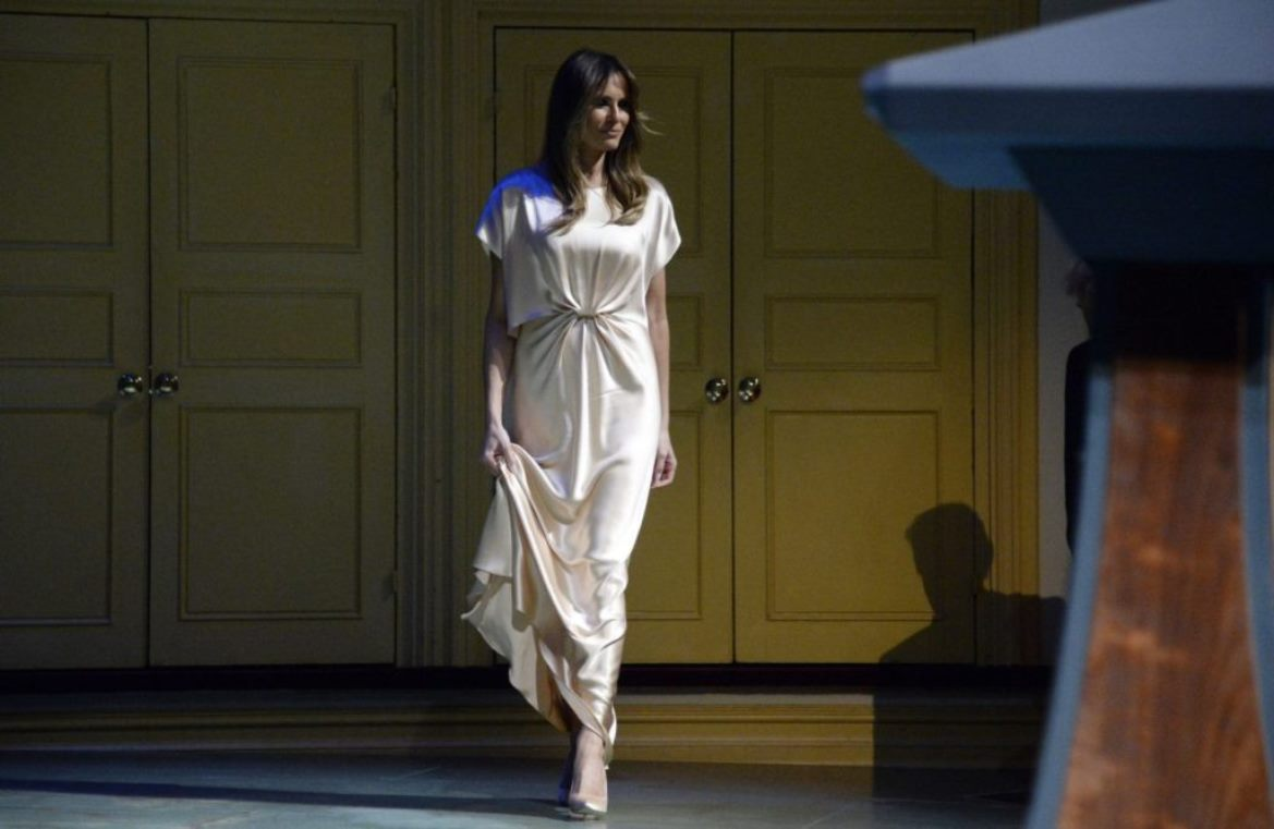 US First Lady Melania Trump Wears $2,595 Filipino Designer Gown