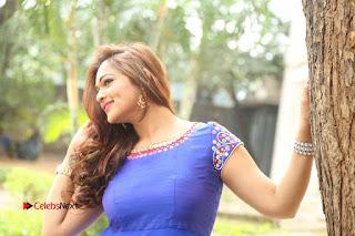 Actress Ashwini Stills in Blue Chudidar at Ameerpet Lo Release Press Meet  0250.JPG