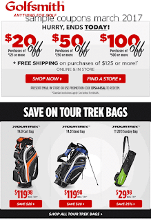 Golfsmith coupons march 2017