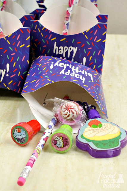 Amazon has the cutest cupcake themed stuff for party favors for a cupcake themed birthday party! #affiliate