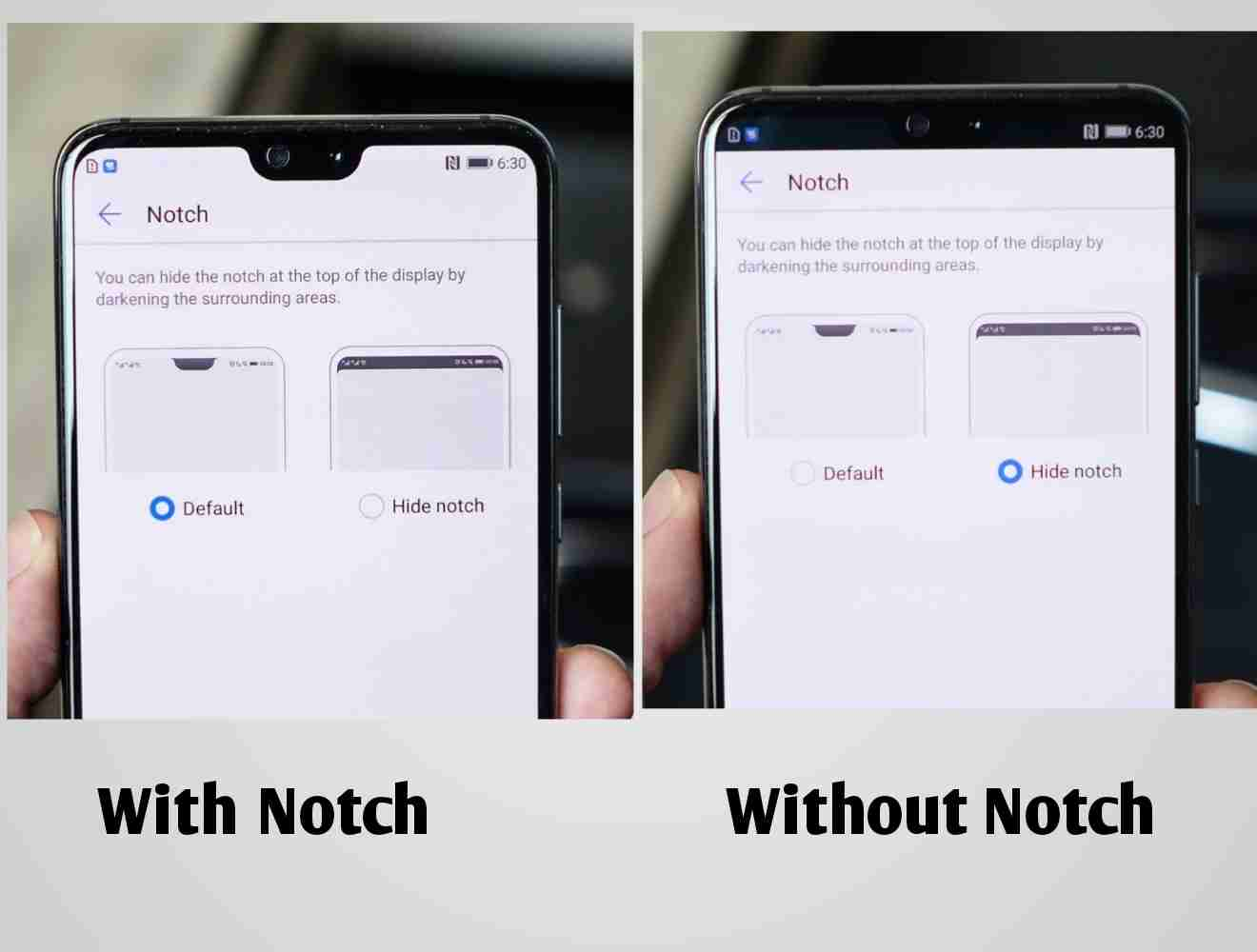 The Huawei P20 and P20 Pro Notch