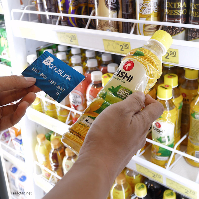You can use your BonusLink points to redeem promotional beverages and snacks from Shell Select