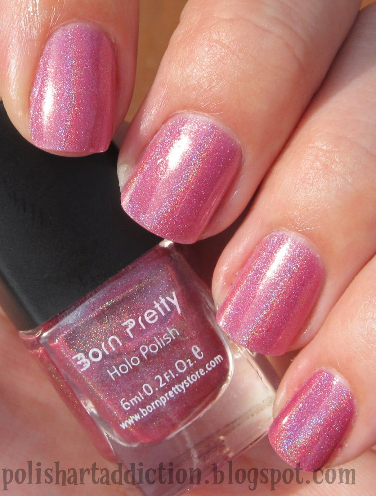Born Pretty Store Holographic Polish - #3 Pink, #8 Blue, & #11 Purple