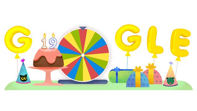 Google sărbătorește a 19-a aniversare