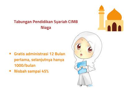 Biaya tabungan pendidikan cimb niaga syariah