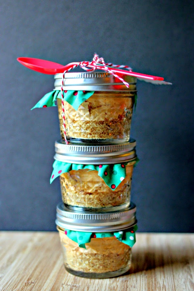 Mini No-Bake Pumpkin Cheesecake in a Jar  #TastetheSeason #AD