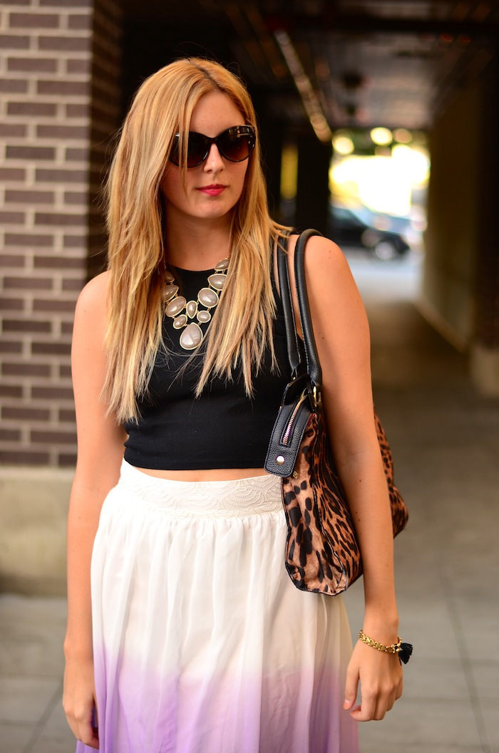 Purple ombre Maxi skirt