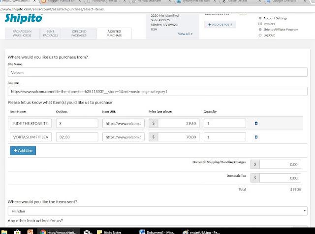 Assisterat inköp med Shipito USA adress