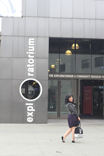 Exploratorium AFTER DARK Swing Date Night and Virtual Reality Experience Outfit