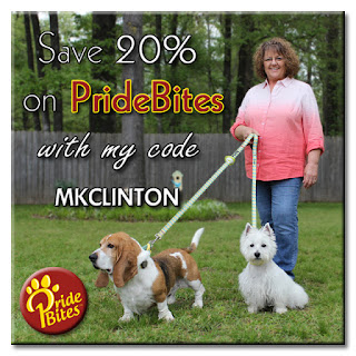 Save 20% on PrideBites with code MKCLINTON