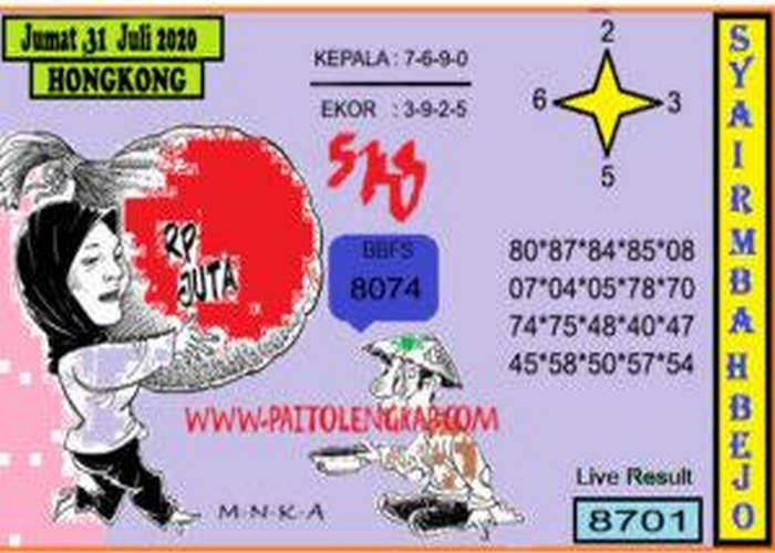 Kode syair Hongkong Jumat 31 Juli 2020 300