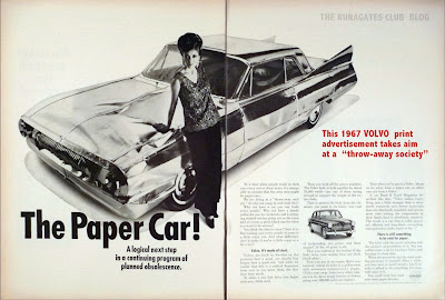 Classic VOLVO advertising 1967  - THE PAPER CAR