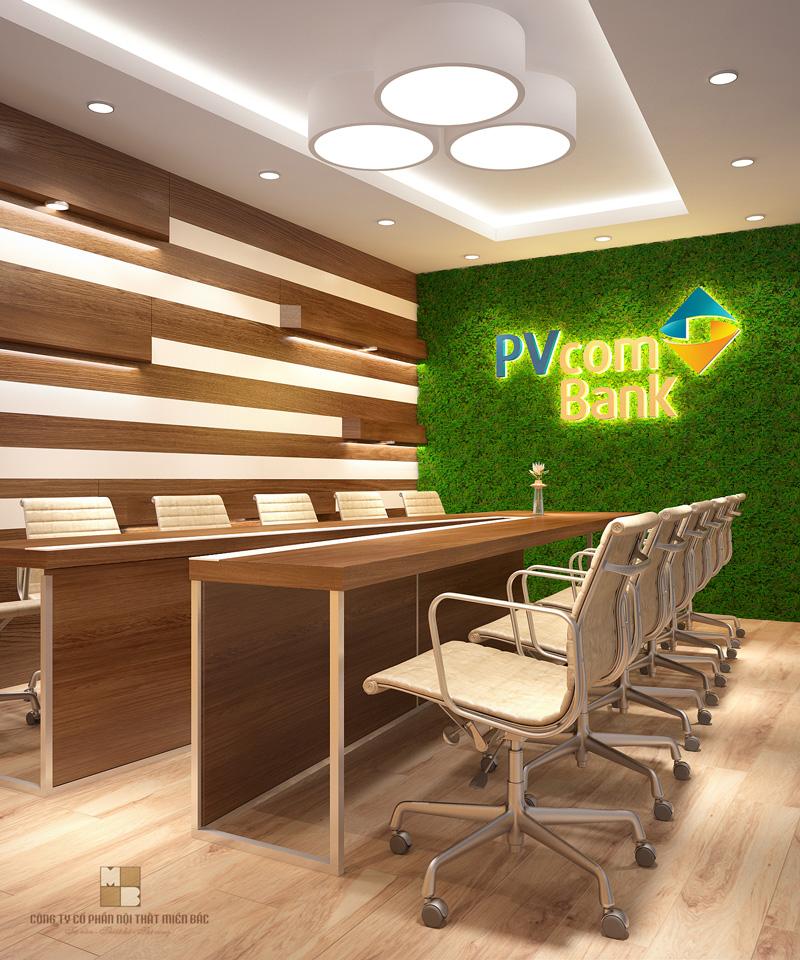 Chiếc bàn phòng họp cao cấp hình chữ V với đường vát bắt mắt cùng những chiếc ghế xoay linh hoạt sẽ mang đến cho căn phòng sự độc đáo và ấn tượng