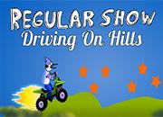 Regular Show Driving On Hill