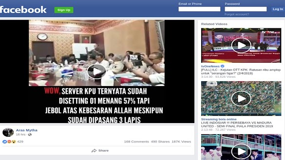 Video 'Server KPU Disetting Menangkan Jokowi 57%' Direkam di Rumah Eks Bupati Serang