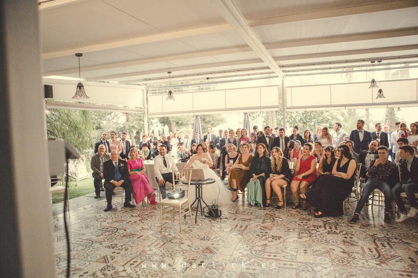 videoproyección de boda