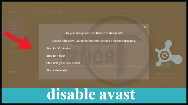 can i temporarily disable avast