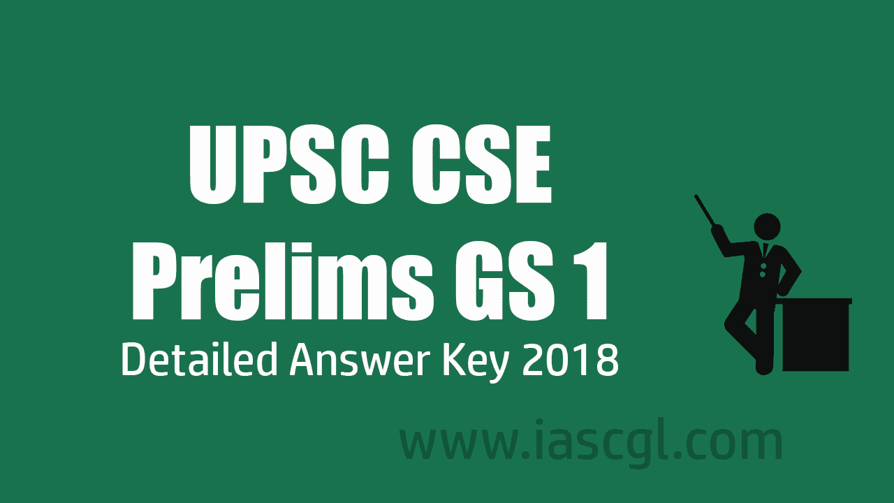 UPSC CSE GS 1 Answer Key