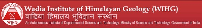 WIHG Recruitment 2016 Scientist B, Project Scientist, RA – 12 Posts Wadia Institute of Himalayan Geology (WIHG)