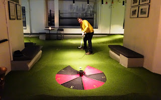 Swing by Golfbaren indoor minigolf and speakeasy in Stockholm Sweden