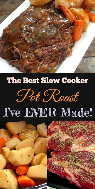 The Best Slow Cooker Pot Roast I've Ever Made! - Perfect Dinner Recipe #slowcooker #bestslowcooker #potroast #bestrecipe #dinner #dinnerrecipe #dish #maindish