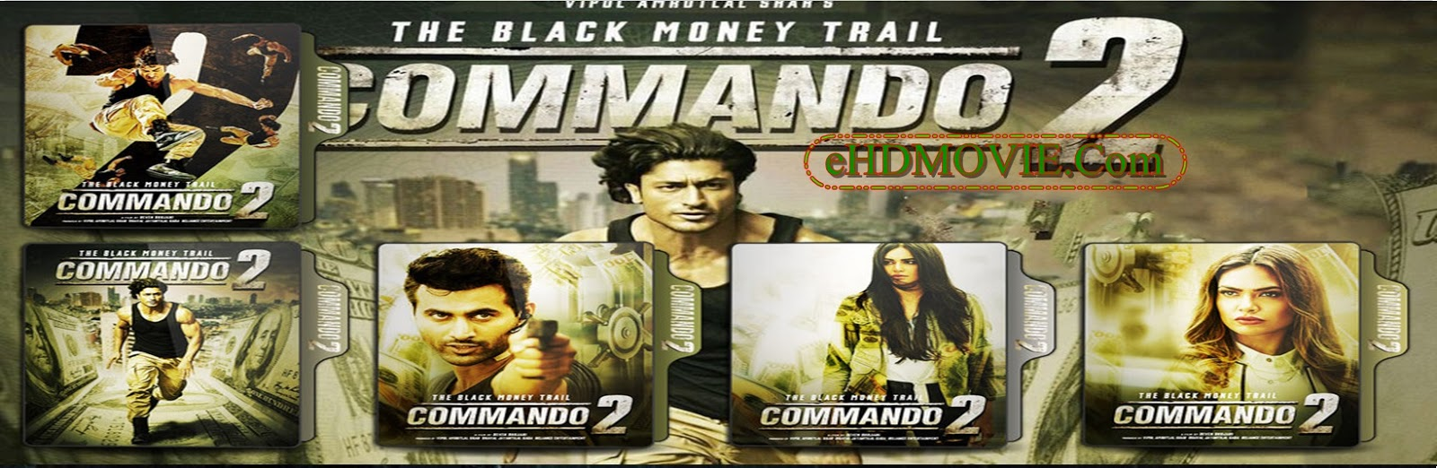 Commando 2 2017 Full Movie Hindi 720p - 480p ORG BRRip 350MB - 1GB ESubs Free Download