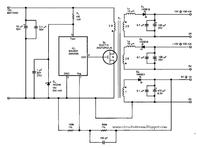 Simple 15V And 5V Car Battery Supply Circuit Diagram
