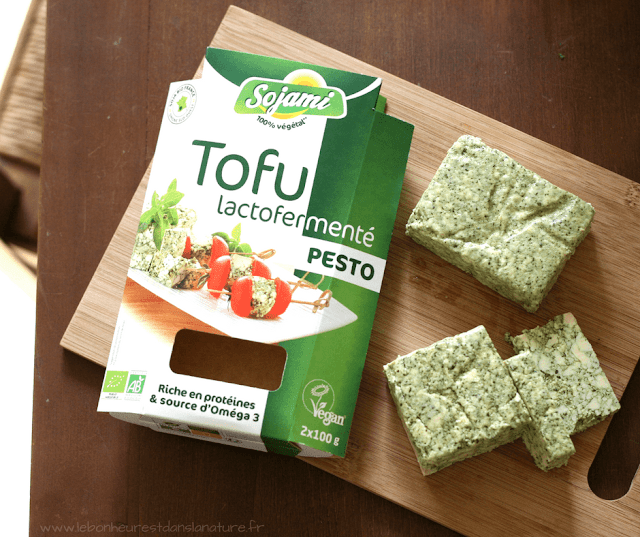 tofu lacto-fermenté sojami pesto recette vegan