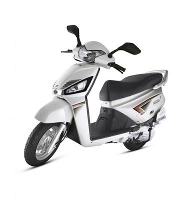 Mahindra Gusto 110cc White HD image
