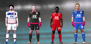Kits/Uniformes Olympique Lyon - Ligue 1 2015/2016 - FTS 15
