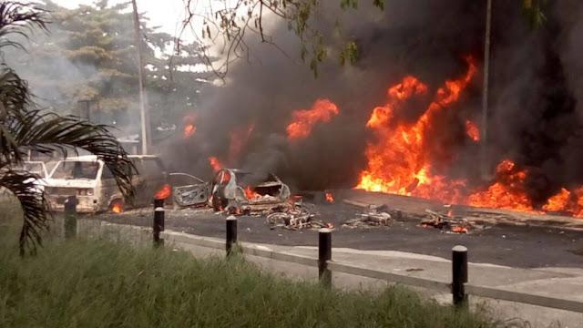 petrol tanker fire explosion festac lagos