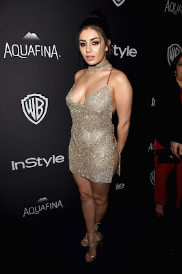 Charli XCX goes sans underwear at the Golden Globes After Party